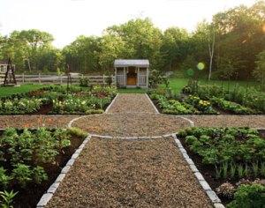 Hidden Pond's organic garden