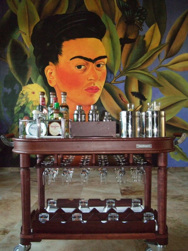 Margarita trolley at Frida restaurant
