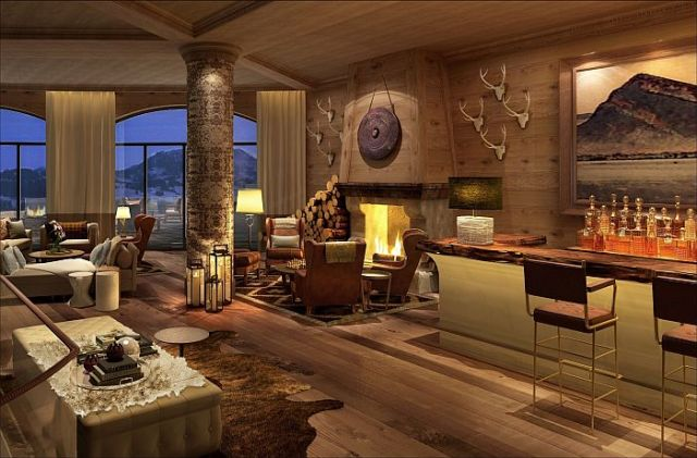 The Alpina Gstaad Lobby